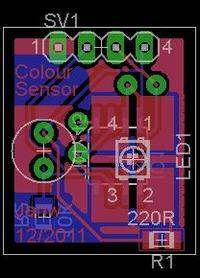 Prosty, mikroprocesorowy czujnik koloru
