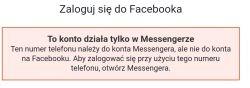Samsung Galaxy xcover 3 - Nie mogę się zalogować do Messengera