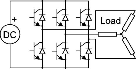 Ac dc ac circuit design for Inverter for 3 phase motor