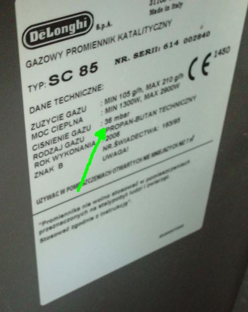 Modernistyczne Jaka jest różnica w działaniu reduktora do butli gazowej 37/50mbar? ND37