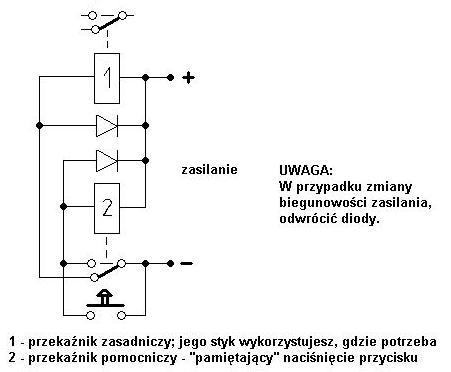 Włącznik elektroniczny na 12V z przekaźnikiem