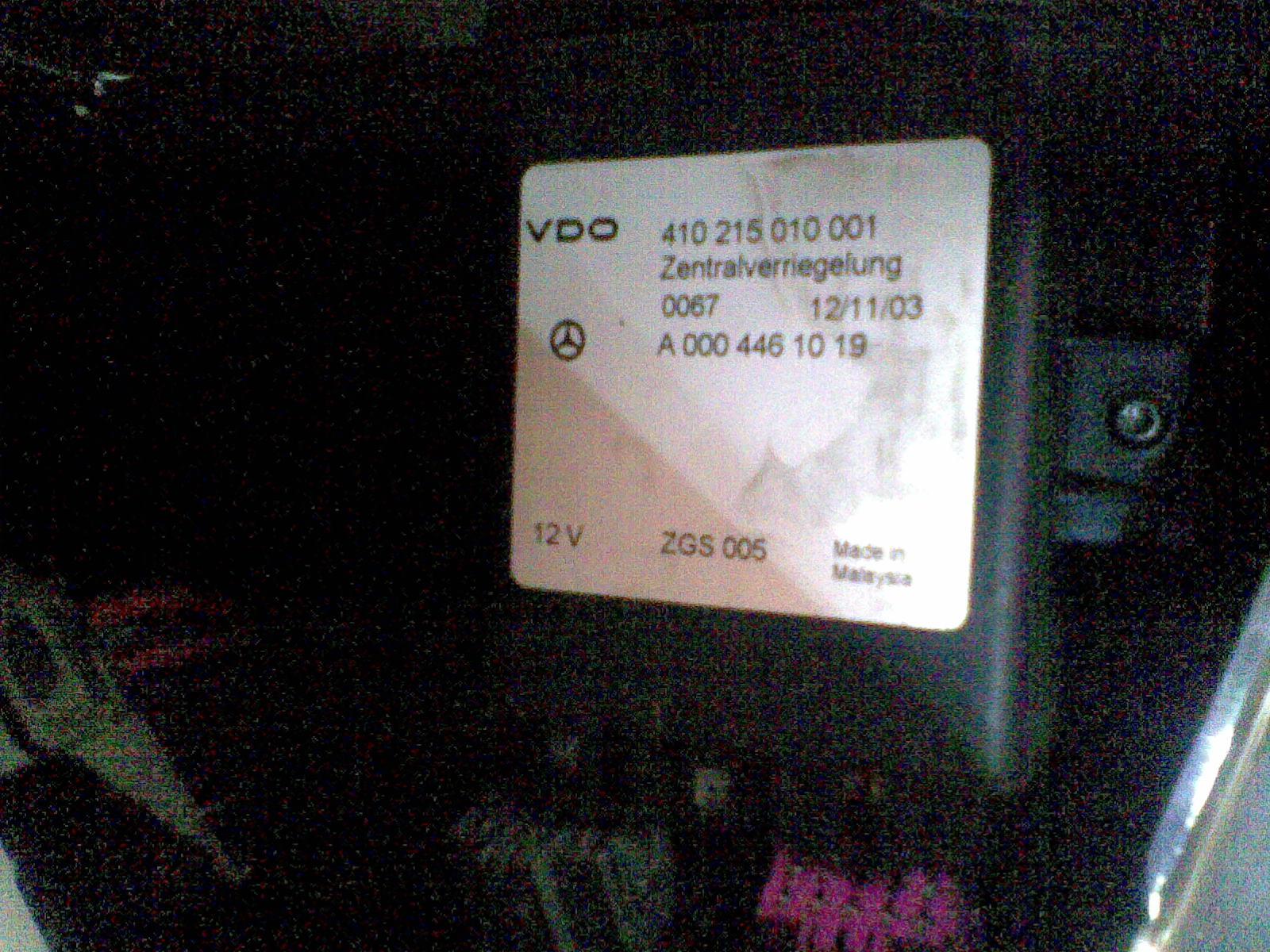 Mercedes Sprinter 311 CDI 2004 - Czy mo�na oszuka� sterownik centralnego zamka