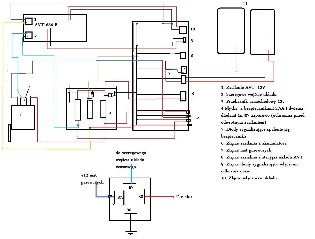 Schemat w�acznika temperaturowego.