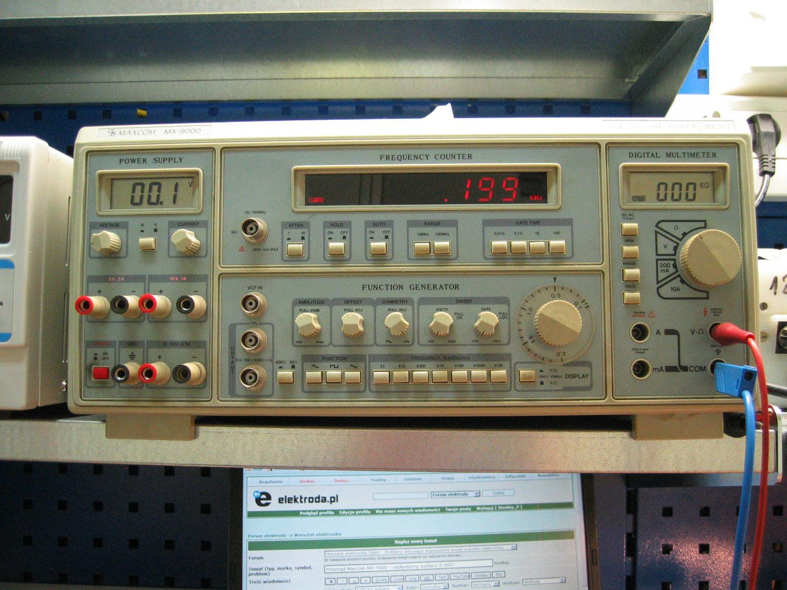 Przyrz�d Maxcom MX-9000 - uszkodzony zasilacz 0-50V?