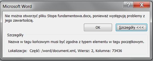 Plik Word2010 - Nie mo�na otworzy� pliku word - praca mgr