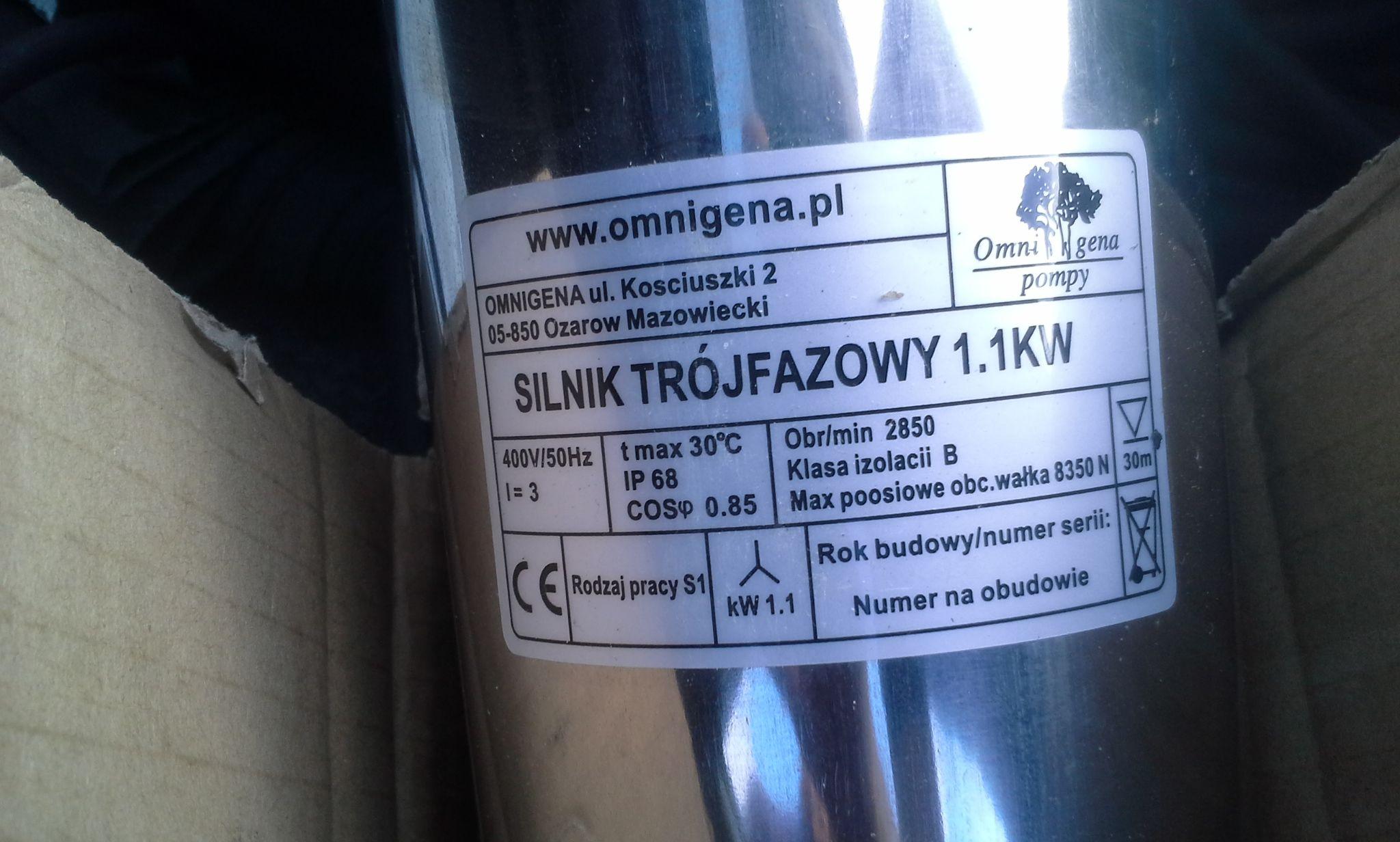 Omnigena 1,1 kW 400V - Uruchomi� silnik 400 V na 230V ?