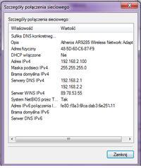 """Windows 7 64bit - Wifi """"ograniczona ��czno��"""""""