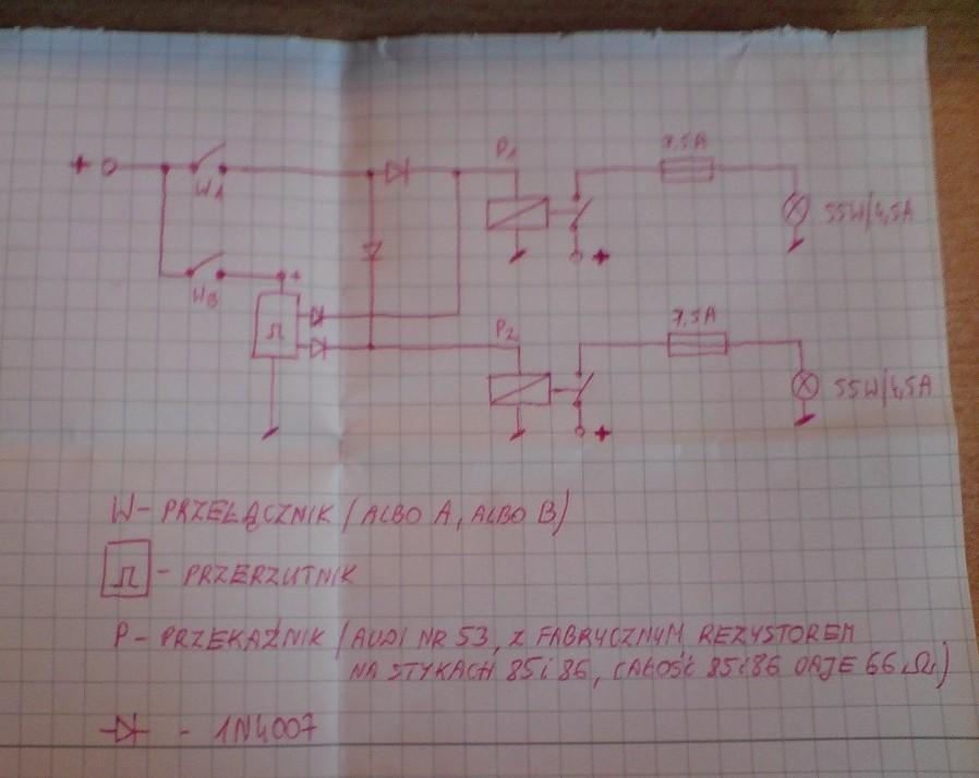 projekt przerzutnika - sterowanie halogenami