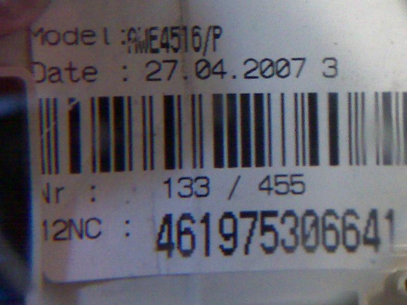 Pralka Whirlpool AWE 4516/P - Identyfikacja element�w.