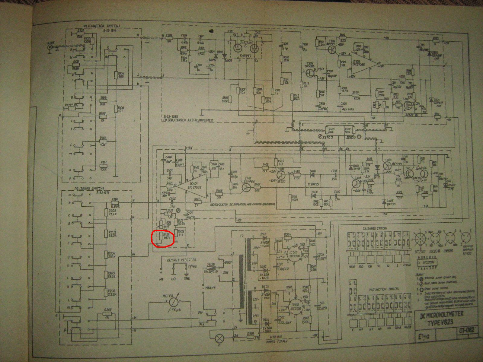 Meratronik V623 DC Microvoltmeter