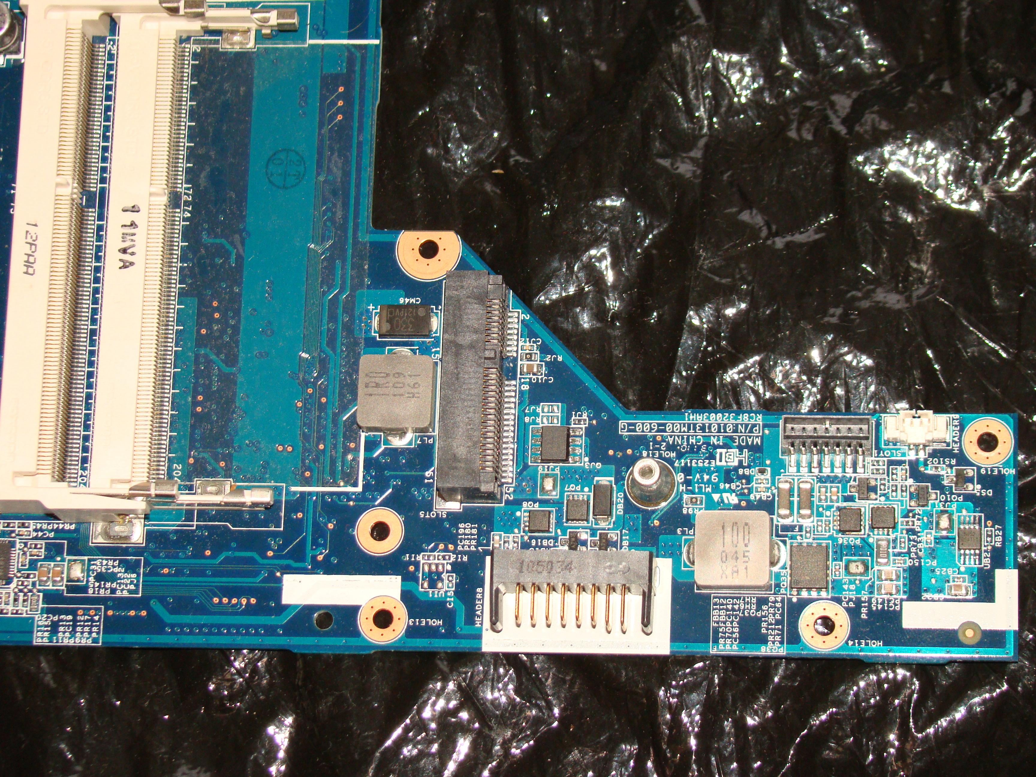 HP G62 - Uszkodzona sekcja zasilania, po burzy