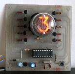 Zegar NIXIE na jednej lampie - SINGLE NIXIE CLOCK