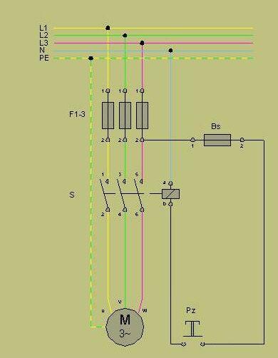 Schemat podłączenia stycznika TSM-1