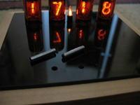 Zegar NIXIE - kolejna wersja (płaska)