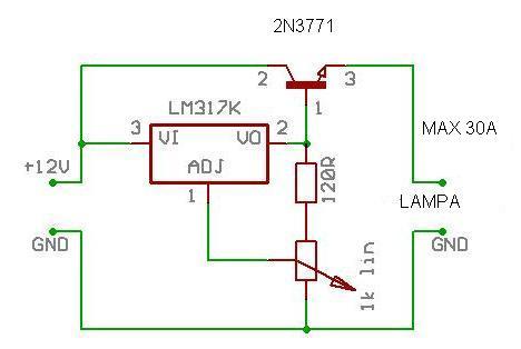 regulacja napiecia od 1,25 do 17v na lm317 i 2n3055