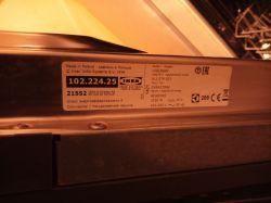 Zmywarka IKEA Hjalpsam GHE423DA2 - Dopuszczanie wody przez elektrozawór.