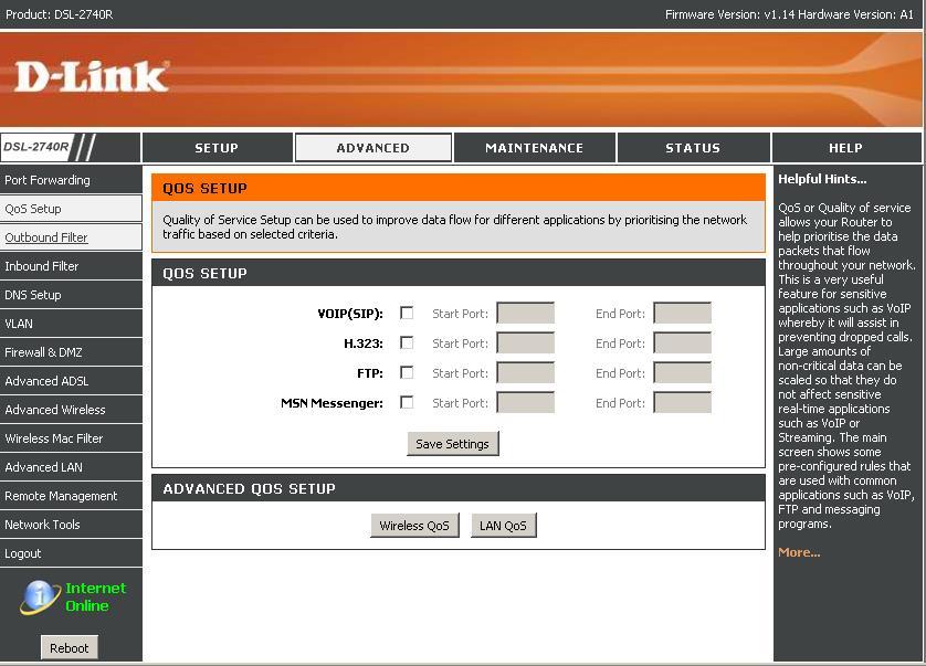 Jak podzielic internet  (D-Link DSL-2740R)