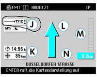 Radio Navigation System MFD nie przesuwa się kursor na mapie