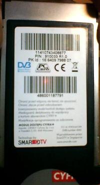 Moduł CI od Cyfry+ HD - nie odbiera BBC BRIT