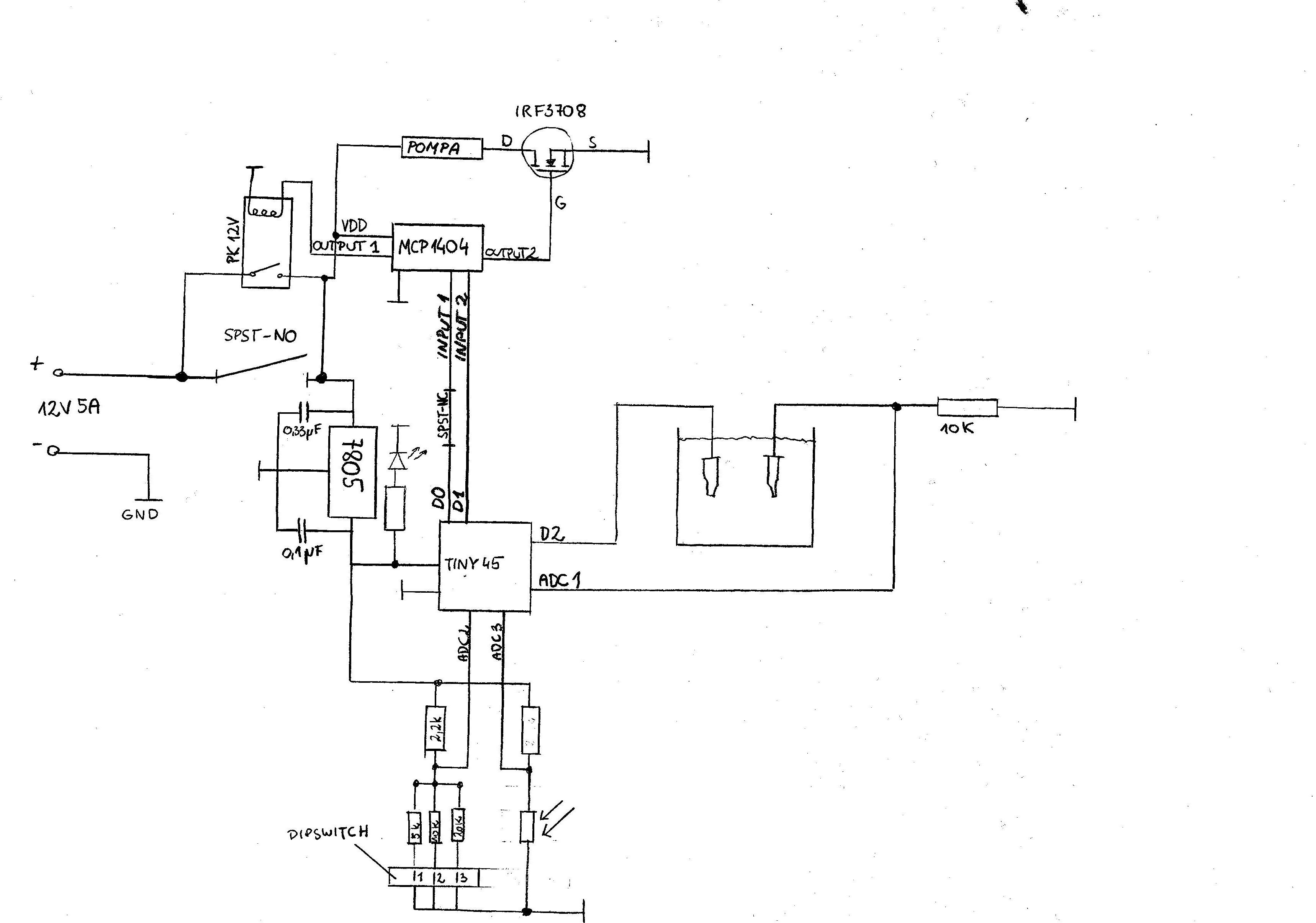 ATTINY45 - Sprawdzenie poprawno�ci uk�adu - automatyczne podlewanie