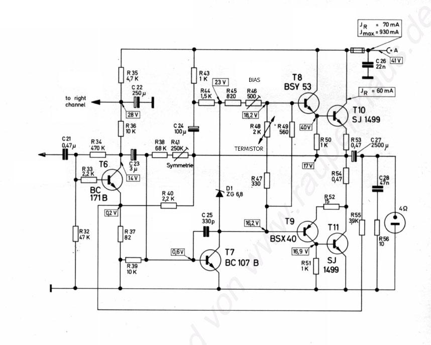 Dual CV 40 - Regulacja symetrii we wzmacniaczu klasy A