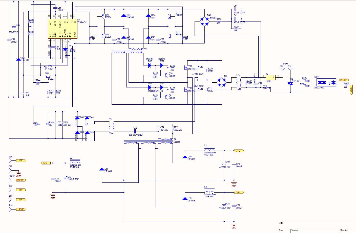 Elektronika - Zasilacz impulsowy do CNC