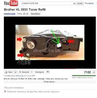 """Brother HL-2035 - �wiecenie diody """"toner"""""""
