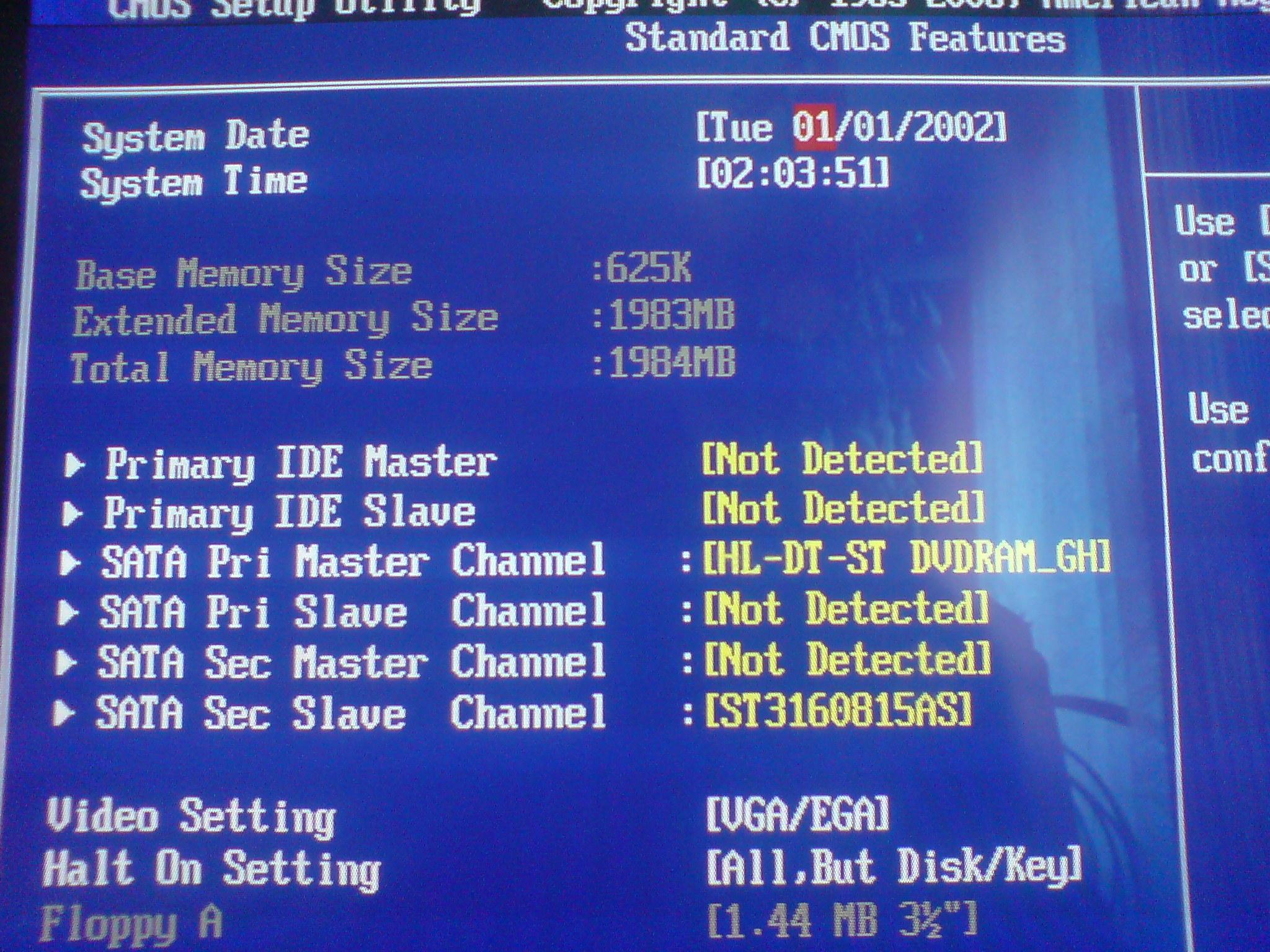 Acer Aspire M1640 - Bios - Brak opcji