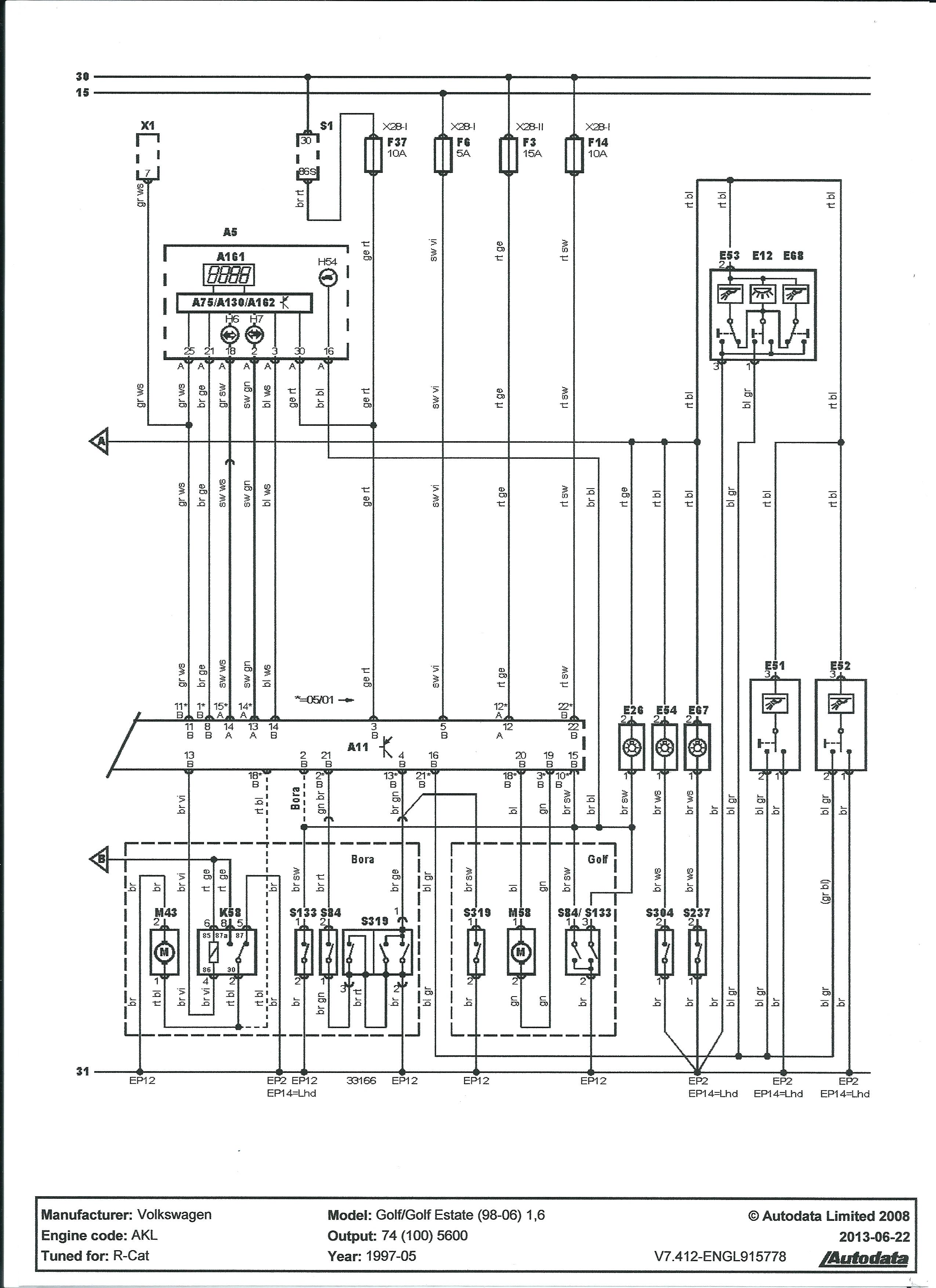 Golf IV 1.9TDI - Nie migaj� kierunki po zamkni�ciu, vag modu�, Blok 11- otwarty