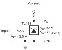 Prosty sygnalizator rozładowania przy 3V na TL431