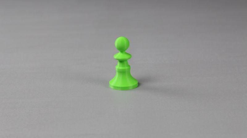 Pionek szachowy odlany z aluminium