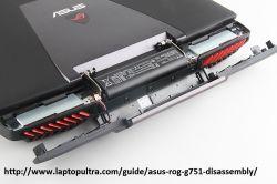 ASUS G751JY - dziwne pęknięcie plastiku pod śrubką obudowy dolnej pokrywy