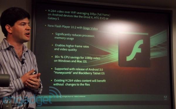 Flash 10.2 dla urz�dze� mobilnych wraz z Android 3.0?