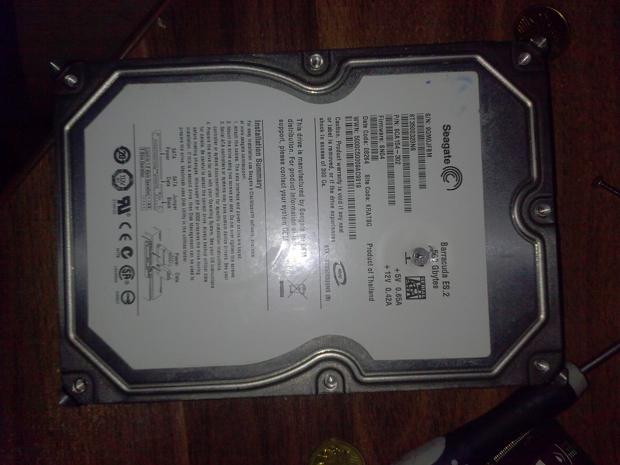 [Sprzedam] Elektronika dysku Seagate Barracuda ES.2 ST3500320NS