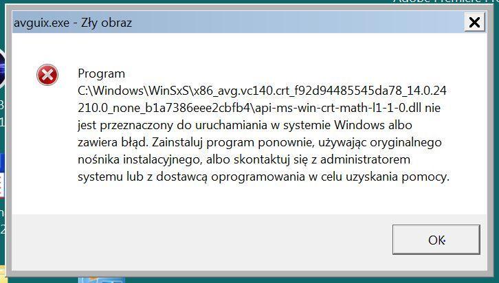 """Zainfekowany Windows 7 (64 bit), gdyż pojawia się komunikat """"zły obraz"""""""