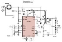 Izolowana przetwornica flyback do zasilania diod LED.
