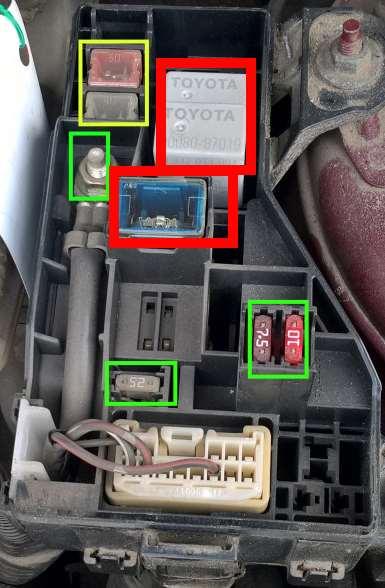ToyotaT25Kombi Brak radia, nawiewu, zapalniczki
