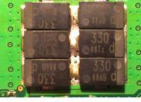 Toshiba A300-1ED - Brak obrazu po wymianie kondensatora NEC/TOKIN
