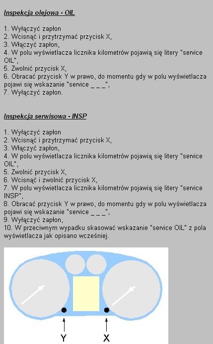 Inspekcia serwisowa VW golf4.