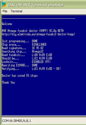 Attiny fusebit doctor (HVSP) - napraw fusebity