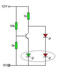 Dwukolorowa LED jako wskaźnik naładowania akumulatora