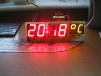 Zegar Rc5 na uC Atmega8 z budzikiem i pom. tem BASCOM
