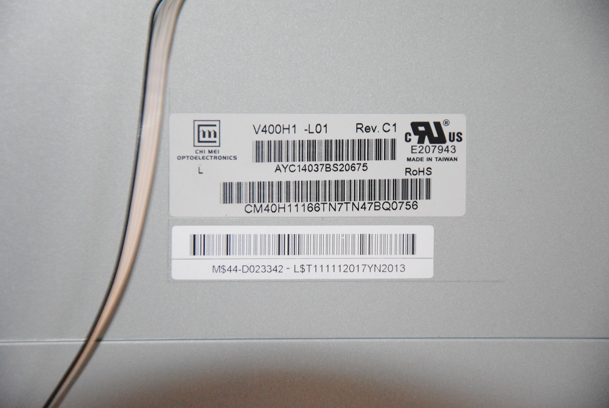 Samsung LE40N87BD - Brak pod�wietlenia