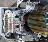 silnik (od pralki) - brak oznaczeń - jak go podłączyć?