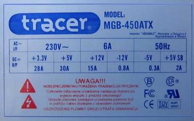 Tracer model: MGB-400ATX - normalnie startuje, ale po obciążeniu większym prądem
