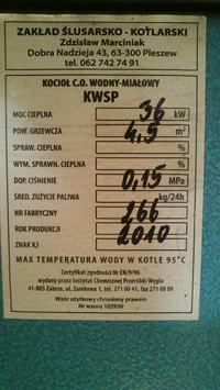 Pleszew 36 kW - Brak mo�liwo�ci doboru parametr�w
