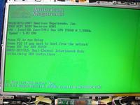 Presario V6500 - Zielony ekran
