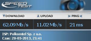 Podzia� ��cza internetowego Plus LTE z modemem ZTE MF821 LTE