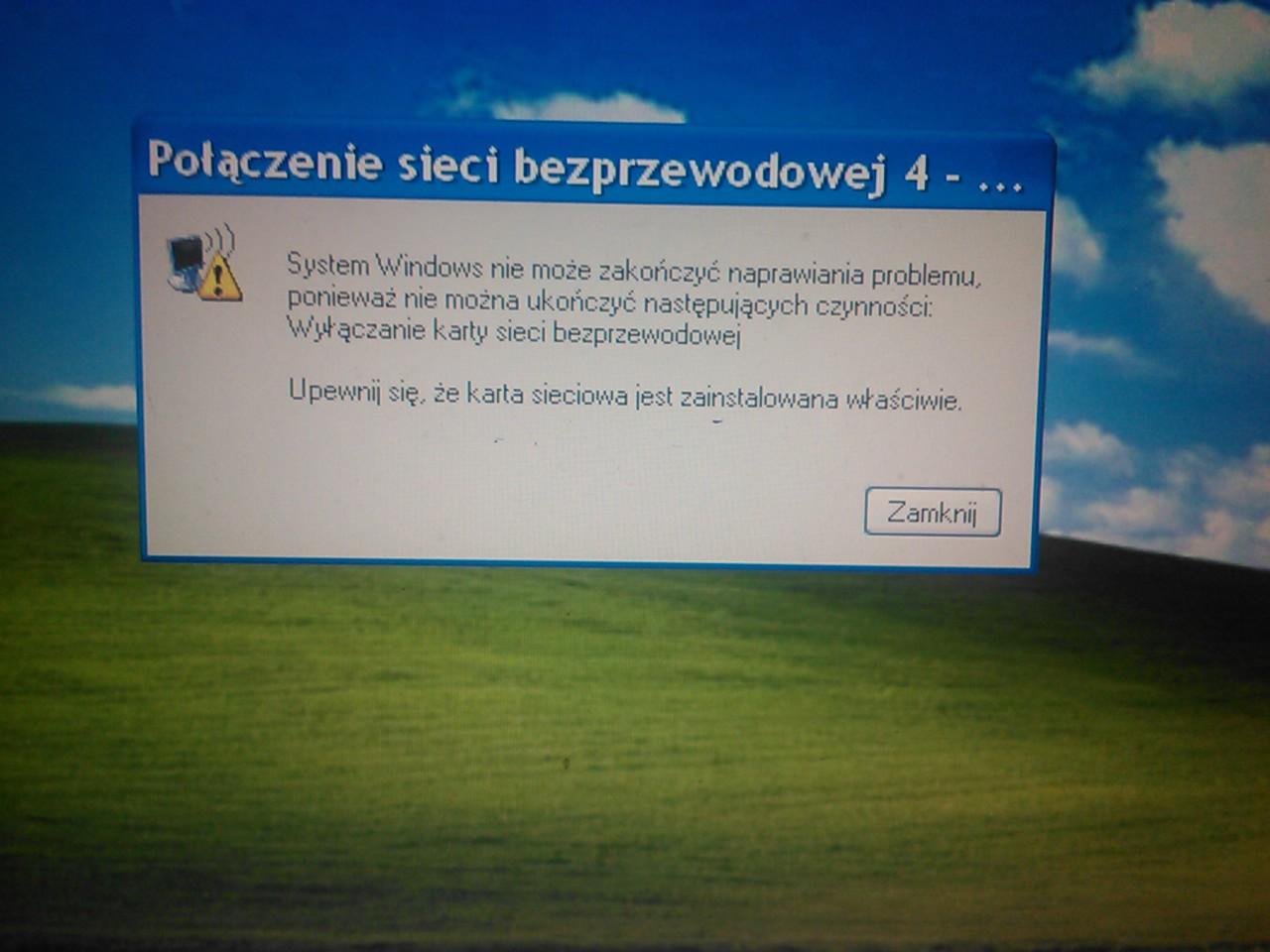Laptop Mitac 8575 a karta wifi w��czanie