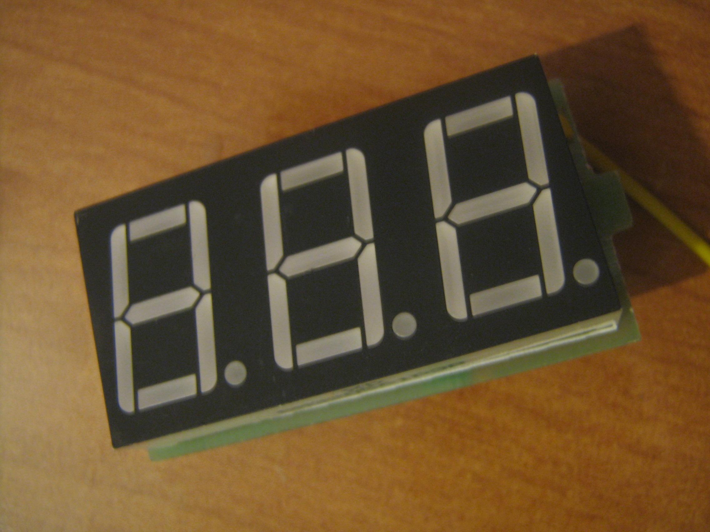 Wykorzystanie woltomierza LED jako amperomierz.